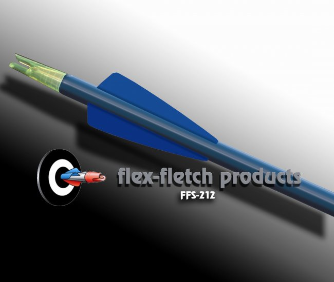 Flo Blue FFS-212 Flex-Fletch Premium vanes archery vanes target archery hunting flex fletch