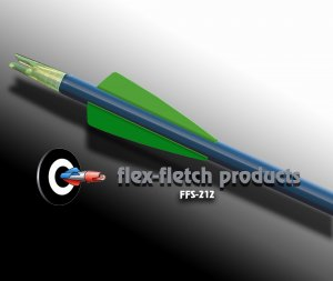 Fl Green FFS-212 Flex-Fletch Premium vanes archery vanes target archery hunting flex fletch