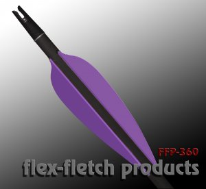 Purple FFP 360 Flex-Fletch archery, vanes, hunting, arrows, target, fletching