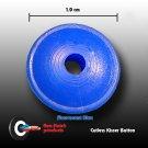 Flex-Fletch - Soft Kisser Button, Fluorescent Blue, small 1.0 cm