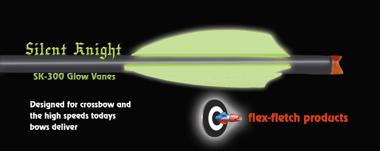 Silent Knight Crossbow Vanes, SK-300, Glow, 36pk, Flex-Fletch, Crossbow, vanes, bolts, arrows