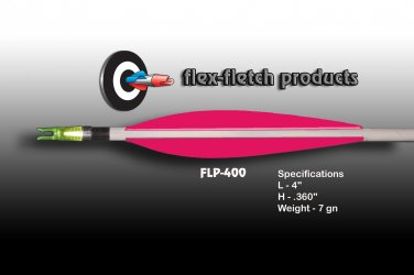 FLP-400 Hot Pink, Flex-Fletch, archery, vanes, hunting, arrows, target, fletching