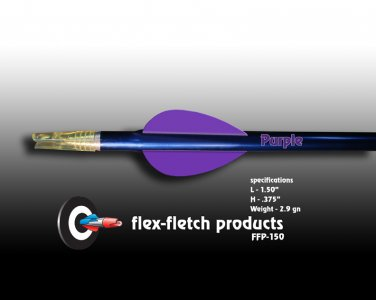 FFP-150 Purple Flex-Fletch Premium vanes archery vanes target archery hunting flex fletch