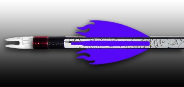 Flame Vanes - Purple, FREE SHIPPING