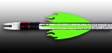 Flame Vanes - Neon Green, FREE SHIPPING