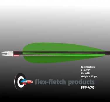 FFP-470 Florescent Green Flex-Fletch, archery, vanes, hunting, arrows, target, fletching