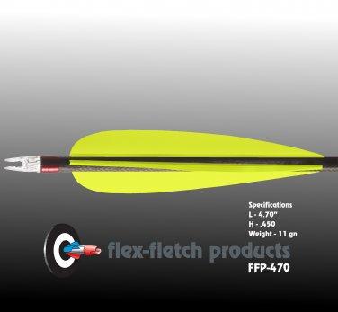 FFP-470 Florescent Yellow Flex-Fletch, archery, vanes, hunting, arrows, target, fletching