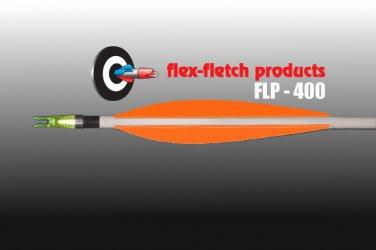 FLP-400 Florescent Orange, Flex-Fletch, archery, vanes, hunting, arrows, target, fletching