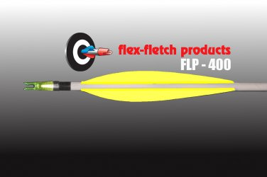 FLP-400 Florescent Yellow, Flex-Fletch, archery, vanes, hunting, arrows, target, fletching