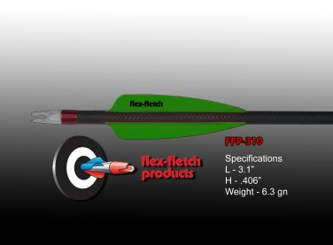 FFP-310 Flo Green Flex-Fletch Premium vanes archery vanes target archery hunting flex fletch