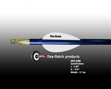 FFP-200 White Flex-Fletch Premium vanes archery vanes target archery hunting flex fletch