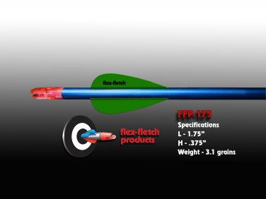 Fluorescent Green FFP-175 Flex-Fletch Premium vanes archery vanes target archery hunting flex fletch