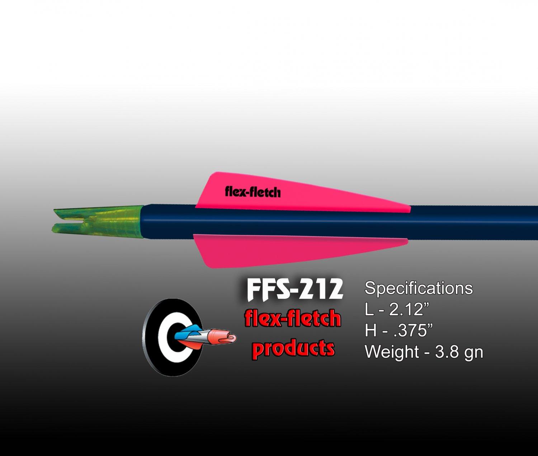 Fl Red FFS-212 Flex-Fletch Premium vanes archery vanes target archery hunting flex fletch