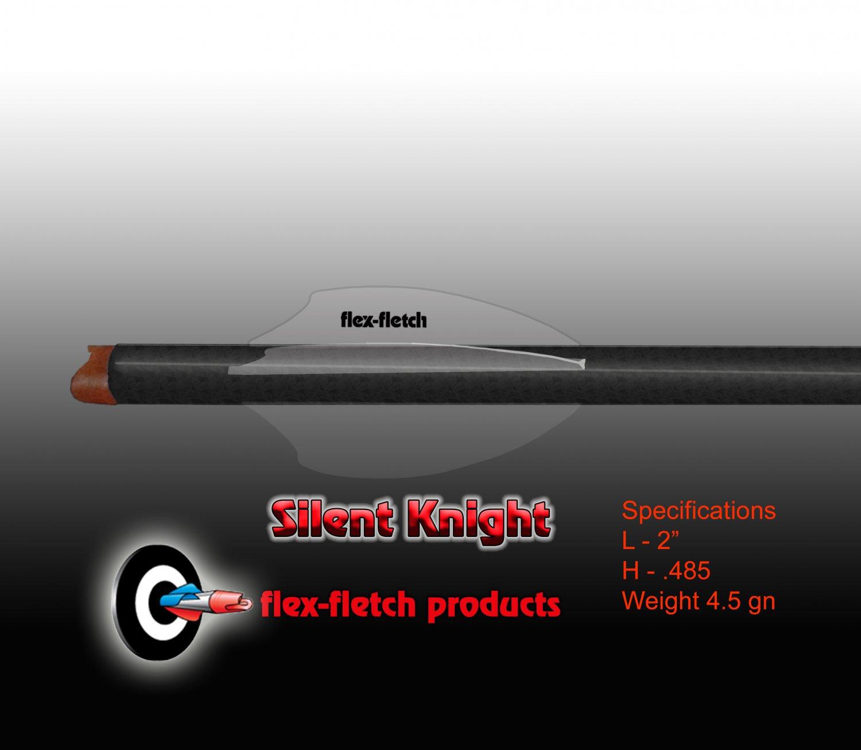 Silent Knight Crossbow Vanes, SK-200, Phantom (Clear) 36pk, Flex-Fletch, Crossbow vanes, bolts