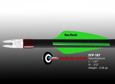Pearl Green FFP-187 Flex-Fletch Premium vanes archery vanes target archery hunting flex fletch