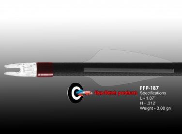 Phantom (clear) Flex-Fletch FFP-187 Premium vanes archery vanes target archery hunting flex fletch