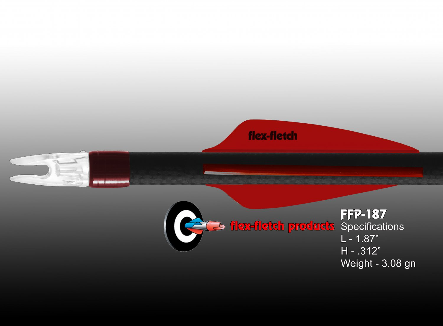 Red FFP-187 Flex-Fletch Premium vanes archery vanes target archery hunting flex fletch