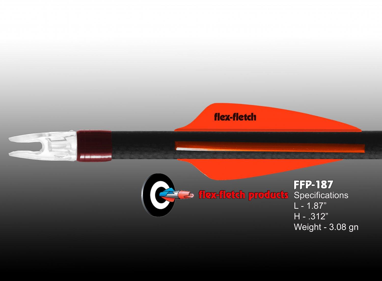 Blaze Orange FFP-187 Flex-Fletch Premium vanes archery vanes target archery hunting flex fletch