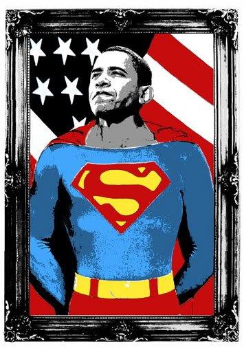 Obama Superman (Silver Edition)