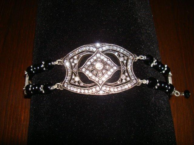 Tiarra Bracelet with Black Crystals
