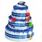 Blue Stars Diaper Cake -- SWEET CHEEKS GIFTS
