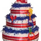 Red Stars Diaper Cake -- SWEET CHEEKS GIFTS
