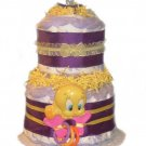 Purple Tweety Diaper Cake -- SWEET CHEEKS GIFTS