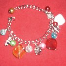 Crystal color with weels bracelet