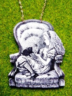 Alice on Chair Necklace