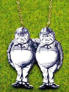 Tweedle Dee & Tweedle Dum Necklace