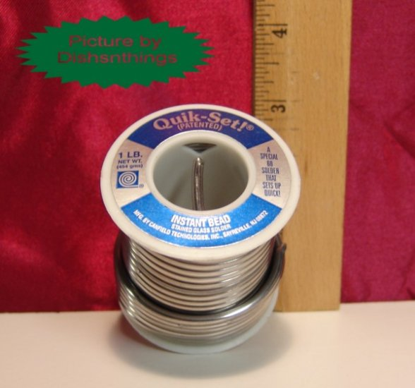 CANFIELD Special Quick Set Stained Glass Solder 1 Pound
