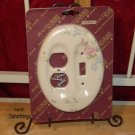 Pfaltzgraff TEA ROSE Plug & Switch Plate Cover NIB !!