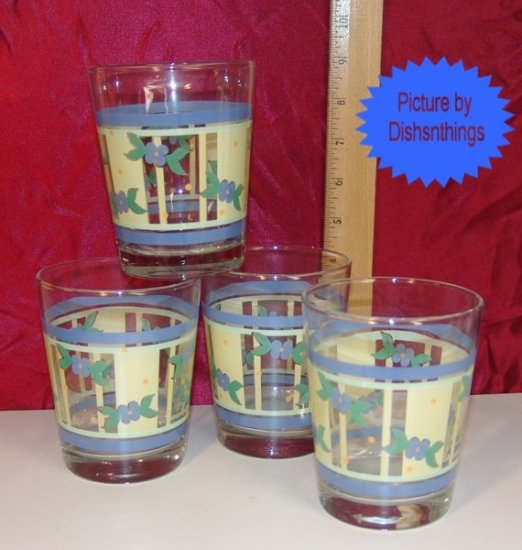 Pfaltzgraff SUMMER BREEZE Set of 4 Water Glasses NOS