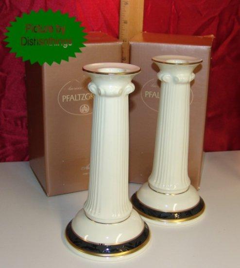 Pfaltzgraff ASTORIA Bone China Candlestick Pair NIB USA