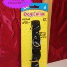 "Base4 Black Nylon Safe Snap Dog Collar Adj. 3/4"""