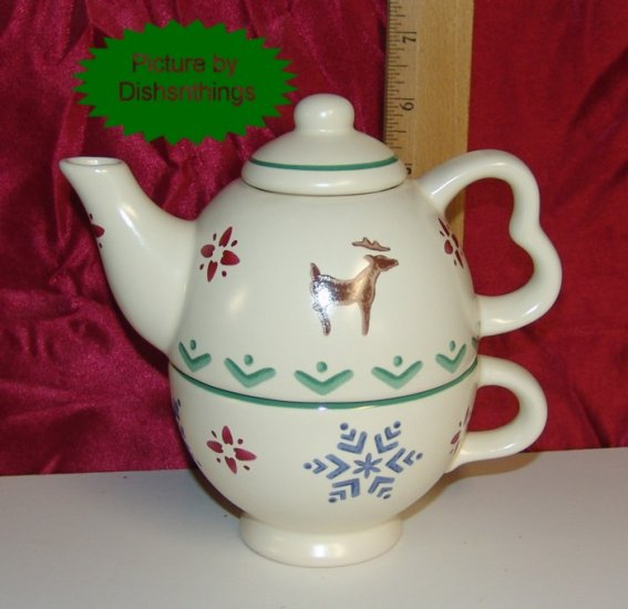 Pfaltzgraff NORDIC CHRISTMAS 3 Piece Tea for One Set