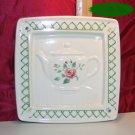 Pfaltzgraff GARDEN TRELLIS Teapot Trivet MINT/USA/RARE
