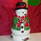 Pfaltzgraff CHRISTMAS HERITAGE Snowman Votive Burner A+