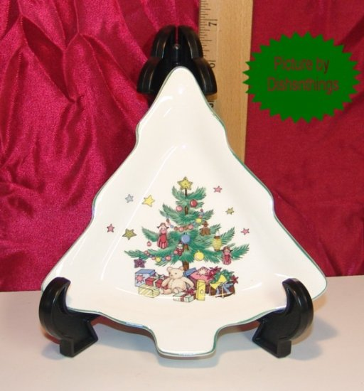 NIKKO Christmastime 6 Inch Tree Plate Candy Dish MINT!