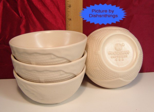 Pfaltzgraff REMEMBRANCE 5in Basket Weave Bowls (4) NEW!