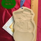 Brown Bag Art 1989 Snowman Cookie Press with Book