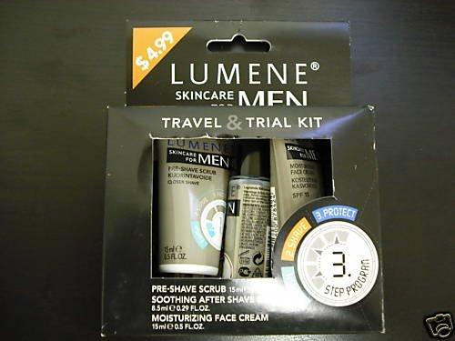 LOT OF 4 LUMENE SKIN CARE FOR MEN TRAVEL & TRIAL KIT
