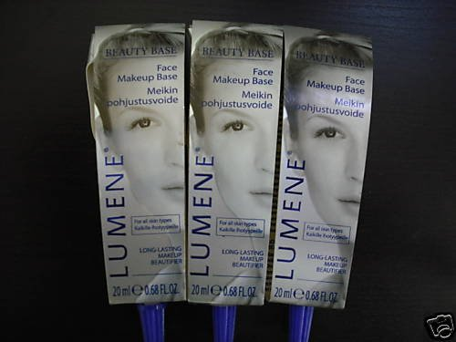 LOT OF 5 LUMENE BEAUTY BASE FACE MAKEUP BASE