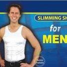 Mens Slimming Garment,  White, Size Medium, Slimming Compression Body Shaper, Slimming shirt