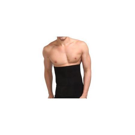 MEN'S slimming  Belt Tummy Trimmer Medium Black Stomach Waist Cincher Belt Body Shaper Belt