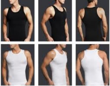 Men Body Shaper Black, Medium,Slimming Men Waist Cincher,Men Compression Shirt,Slimming Shirt