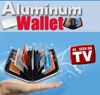 Aluma Wallet RDIF black, Aluminum Security Wallet, Seen on TV