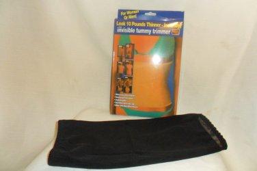 Invisible Tummy Trimmer Waist Cincher Shapewear Black Medium,