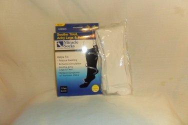 Miracle Sock Compression Sock Anti Fatigue Sock White XLarge