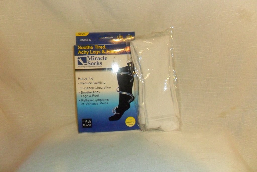 Miracle Sock Compression Sock Anti Fatigue Sock White Small